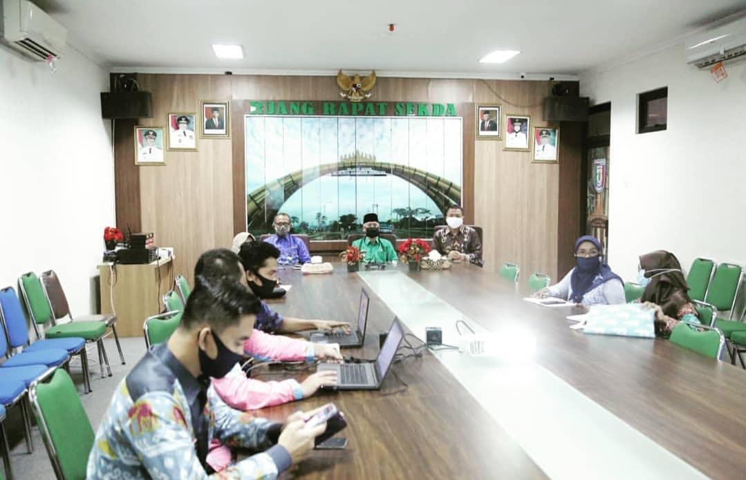 Bupati Pringsewu Ikuti Musrenbang Nasional Melalui Video Conference