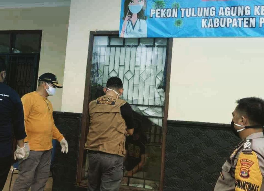 Wabup Pringsewu Tinjau Rumah Singgah Pencegahan Penyebaran Covid-19 di Tulung Agung